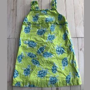 Lilly Pulitzer girls turtle ruffle dress 6x